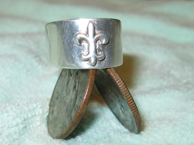 .925 Silver Fleur De Lis Ring