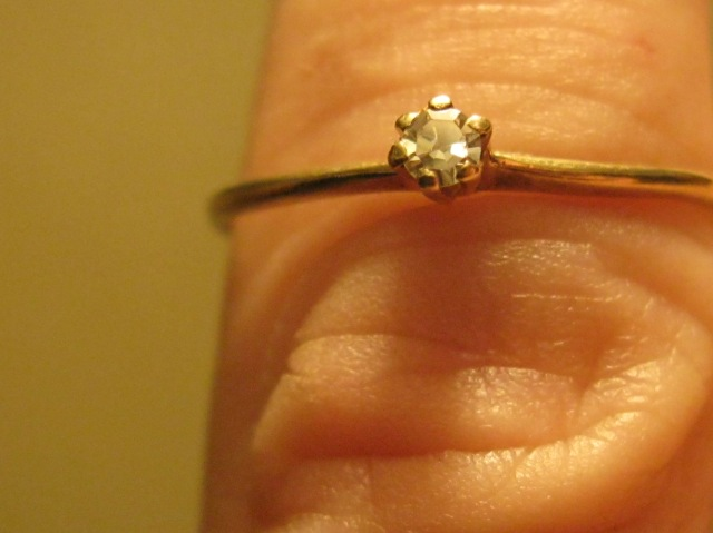 14K Gold w/ Small Diamond