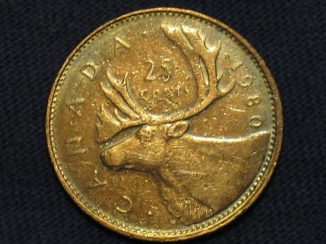1980 Canadian Quarter Reverse